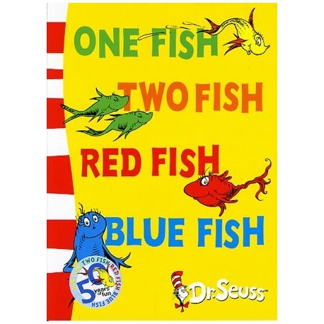 One Fish, Two Fish, Red Fish, Blue Fish (Dr Seuss - Blue Back Book)