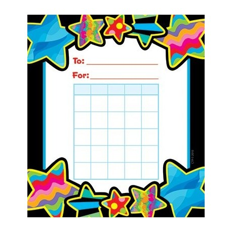 Poppin Patterns Stars Student Incentive Chart