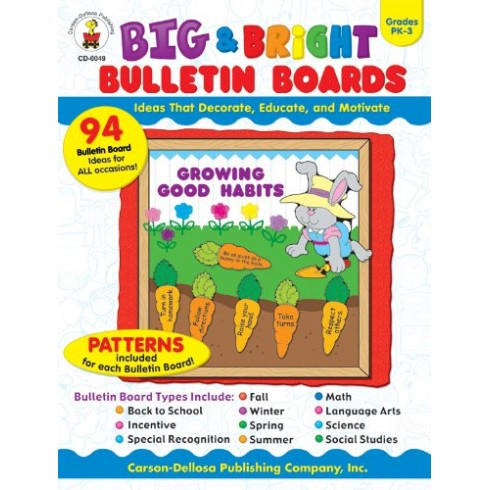 big bright bulletin boards grades pk 3 english wooks. Black Bedroom Furniture Sets. Home Design Ideas