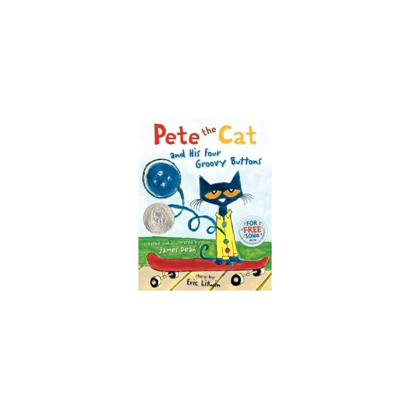 Pete the Cat and His Four Groovy Buttons - English Wooks