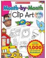 Month-by-Month Clip Art Book  + CD