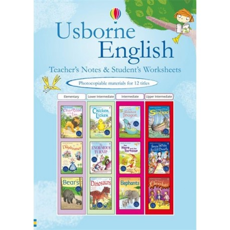 Usborne English teacher's notes and student's worksheets