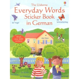 Everyday words sticker book in German