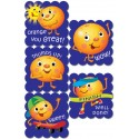 Cartoon Fruit Scratch 'n Sniff Stickers – Orange