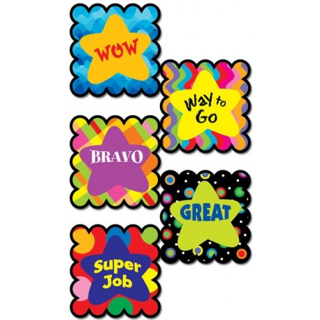 Poppin' Patterns Star Sayings Scratch 'n Sniff Stickers
