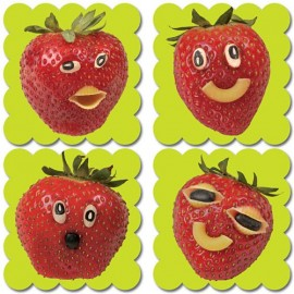 Photo Fruit Scratch N Sniff Stickers – Strawberry