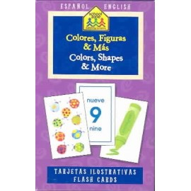 Colors, Shapes & More Flashcards bilingüe
