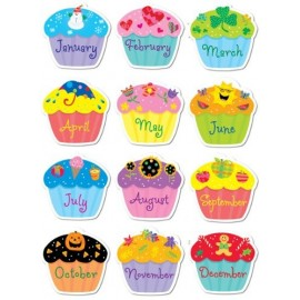 Poppin Patterns Birthday Cupcakes Stickers