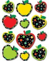 Dots On Black Apples Pp Stickers