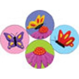 Flowers & Butterflies Clay Art Hot Spot Stickers