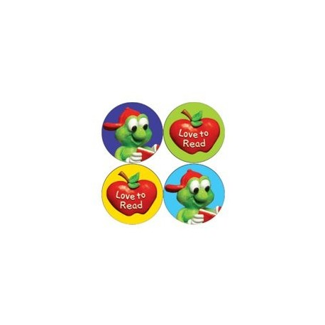 700 Mini Love to Read Reward Stickers for Children