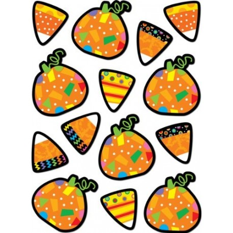 Poppin Patterns Pumpkins & Candy Corn Stickers