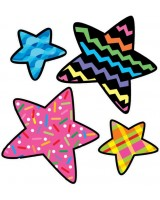 Stars Poppin' Patterns Stickers