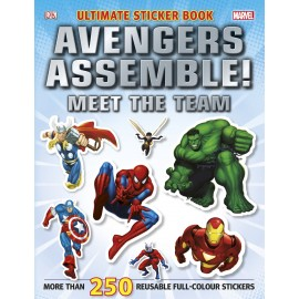 Avengers assemble! Meet the team. Sticker book