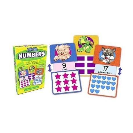 Numbers Slide and Learn Flash Cards