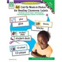40 Cut-Up Words & Photos for Reading Classroom Labels, Grades PK - 2