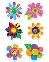 Poppin' Patterns Spring Flowers Stickers - CTP4114