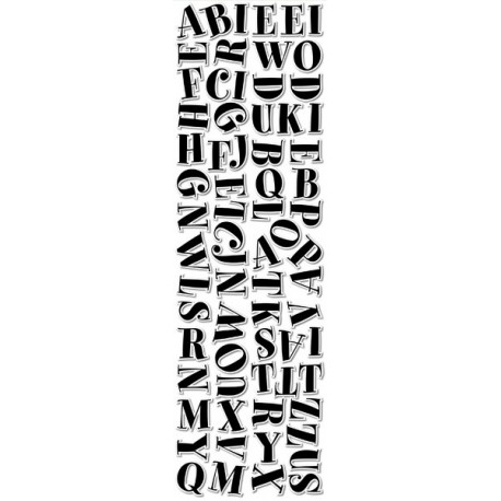 """Black Spumoni 2"""" Uppercase Letter Stickers - CTP 4194"""