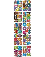 "Poppin' Patterns 2"" Uppercase Letter Stickers - CTP4191"