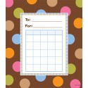Dots on Chocolate Incentive Pad - CTP1417