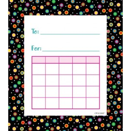 Dots on Black Student Incentive Chart CTP1480