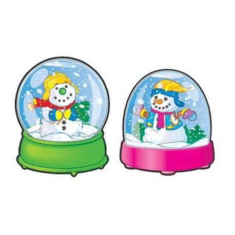Snow Globes Colorful Cut-Outs - CD120003