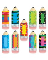 "Poppin' Patterns Pencils 6"" Designer Cut-Outs CTP3885"