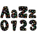 Dots on Black Upper and Lowercase Letter - CTP1196