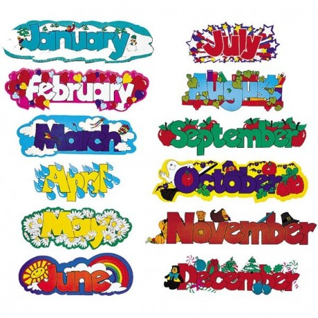 12 Month Title Strips CTP0582 - English Wooks