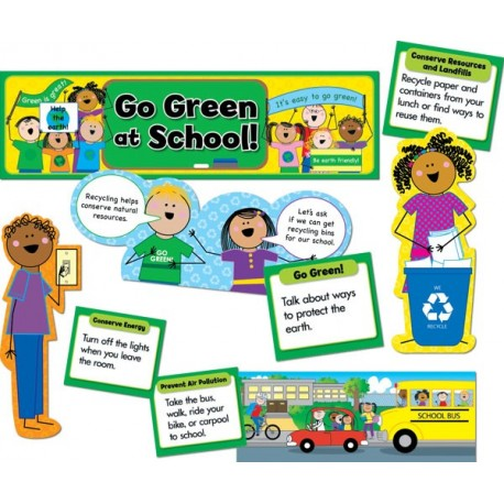Go Green at School Mini Bulletin Board Set CTP4703