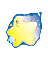 Colorful cut-outs shooting stars CD 5540