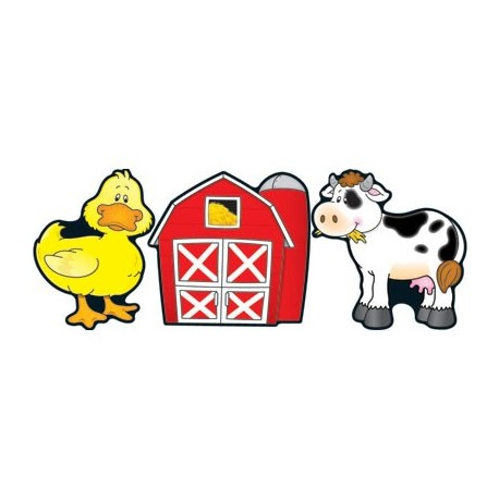 Barns & Farm Animals: Cut-Out Buddies - CD 120062