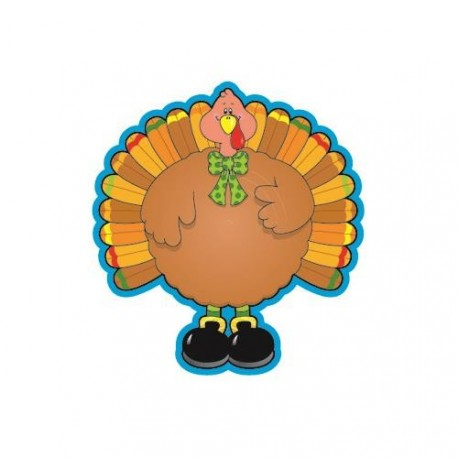 Colorful Cut-Outs Turkeys 36/Pk Single Design - CD-5529