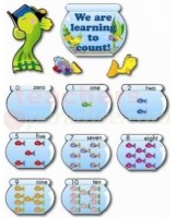Counting fish bulletin board set