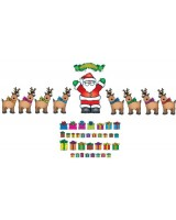 Santa n' reindeer bulleting board