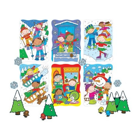 Winter Accents bulleting board