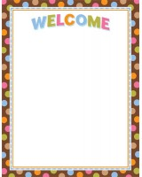 Dots on Chocolate Welcome Poster Chart