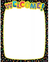 Dots on Black Welcome Poster Chart