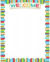 Dots on Turquoise Welcome Poster Chart