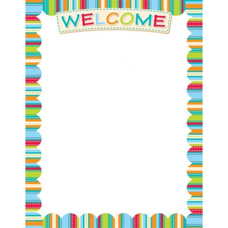 Dots on Turquoise Welcome Poster Chart - English Wooks