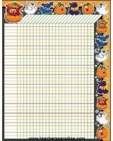 Halloween incentive chart