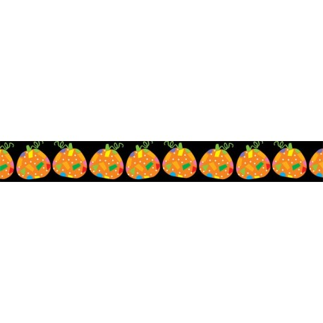 Poppin' Patterns Pumpkins Border