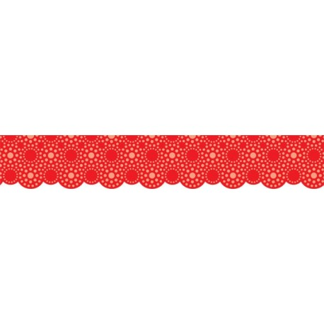 Lots of Dots Red Border