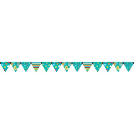 Dots on Turquoise Border