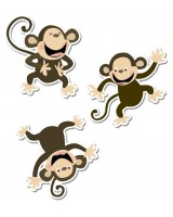 "Monkeys 10"" Jumbo Designer Cut-Outs"