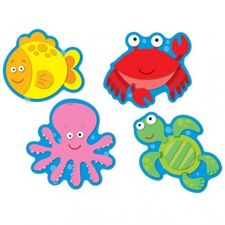 Colorful cut outs sea life