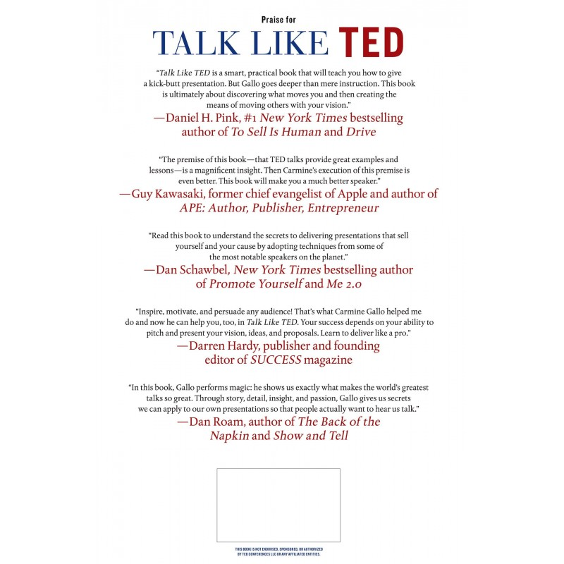 Talk Like Ted English Wooks