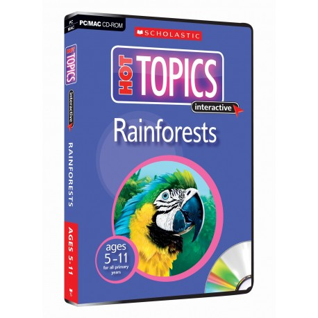 Rainforest CD Rom (Hot Topics interactive 5-9 ages)