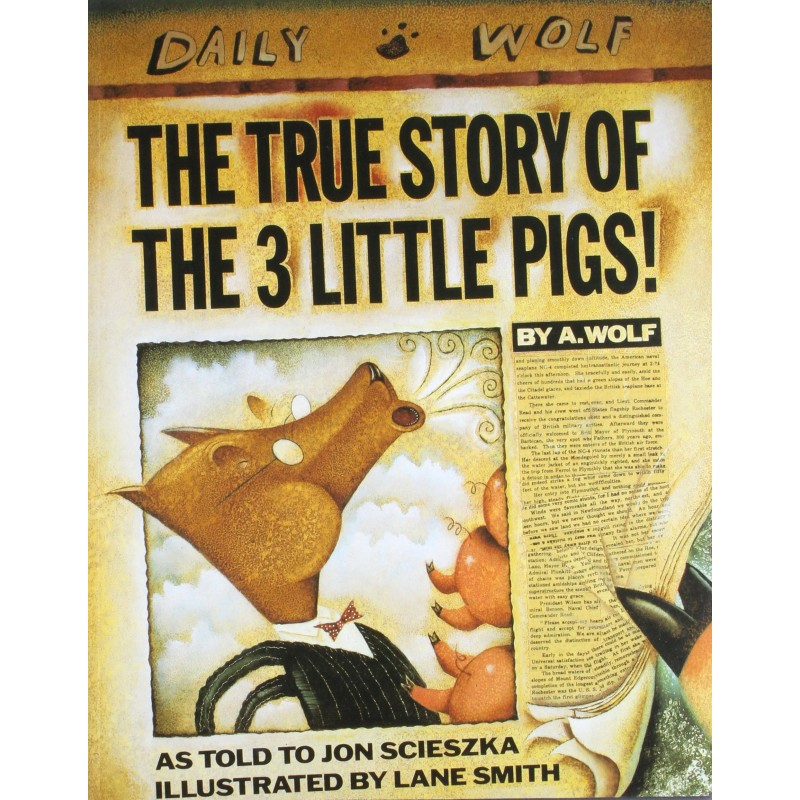 The True Story of the Three Little Pigs - English Wooks