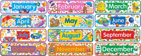 months of the year english wooks